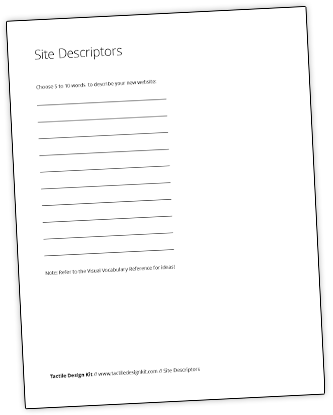 Site Descriptors Worksheet