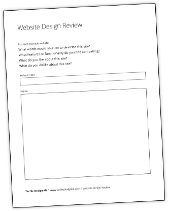 Website Design Review Worksheet