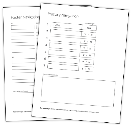 Navigation Worksheets
